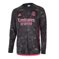 20/21 Real Madrid Third Away Black Long Sleeve Jerseys Shirt