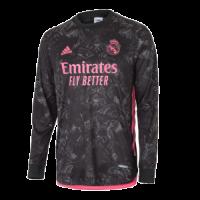 20/21 Real Madrid Third Away Black Long Sleeve Jerseys Shirt