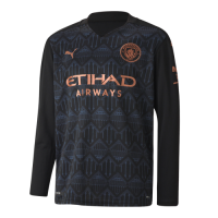 20/21 Manchester City Away Black Long Sleeve Jerseys Shirt