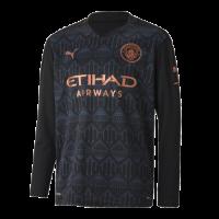 20/21 Manchester City Away Black Long Sleeve Jerseys Shirt