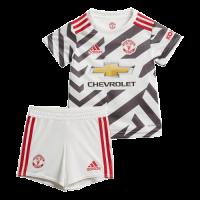 20/21 Manchester United Third Away White Children's Jerseys Kit(Shirt+Short)