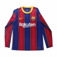 20/21 Barcelona Home Blue&Red Long Sleeve Jerseys Shirt