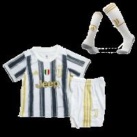 20/21 Juventus Home Black&White Children's Jerseys Whole Kit(Shirt+Short+Socks)