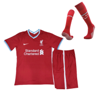 20/21 Liverpool Home Red Children's Jerseys Whole Kit(Shirt+Short+Socks)