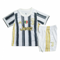 20/21 Juventus Home Black&White Children's Jerseys Kit(Shirt+Short)