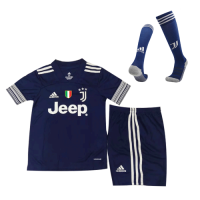 20/21 Juventus Away Navy Children's Jerseys Whole Kit(Shirt+Short+Socks)