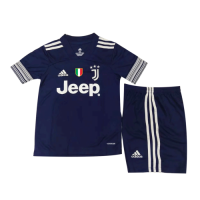 20/21 Juventus Away Navy Children's Jerseys Kit(Shirt+Short)
