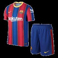 20/21 Barcelona Home Blue&Red Soccer Jerseys Kit(Shirt+Short)