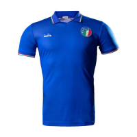 1990 World Cup Italy Home Blue Retro Soccer Jerseys Shirt
