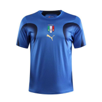 2006 World Cup Champion Italy Home Blue Retro Soccer Jerseys Shirt
