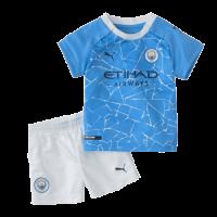 20/21 Manchester City Home Blue Children's Jerseys Kit(Shirt+Short)