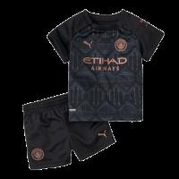 20/21 Manchester City Away Black Children's Jerseys Kit(Shirt+Short)