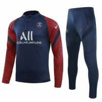 20/21 PSG Navy Zipper Sweat Shirt Kit(Top+Trouser)