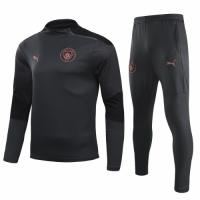 20/21 Manchester City Dark Gray Zipper Sweat Shirt Kit(Top+Trouser)