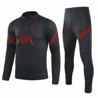 20/21 Liverpool Black Zipper Sweat Shirt Kit(Top+Trouser)