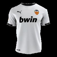 20/21 Valencia Home White Soccer Jerseys Shirt