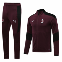 20/21 AC Milan Dark Red High Neck Collar Training Kit(Jacket+Trouser)