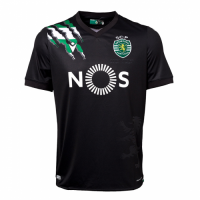 20/21 Sporting Lisbon Away Black Soccer Jerseys Shirt