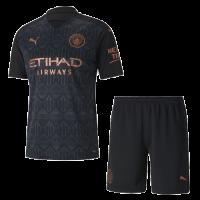 20/21 Manchester City Away Black Jerseys Kit(Shirt+Short)