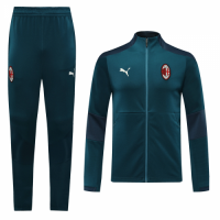 20/21 AC Milan Blue High Neck Collar Training Kit(Jacket+Trouser)