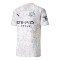 20/21 Manchester City Third Away White Jerseys Shirt