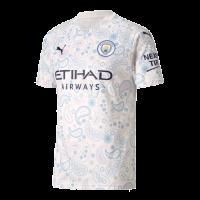 20/21 Manchester City Third Away White Jerseys Shirt