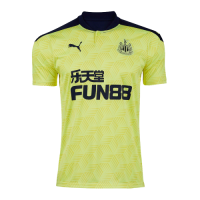 20/21 Newcastle United Away Yellow Soccer Jerseys Shirt