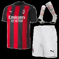 20/21 AC Milan Home Black&Red Soccer Jerseys Whole Kit(Shirt+Short+Socks)