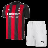 20/21 AC Milan Home Black&Red Soccer Jerseys Kit(Shirt+Short)