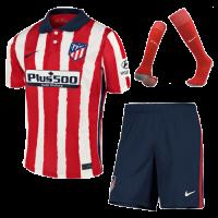 20/21 Atletico Madrid Home Red&White Soccer Jerseys Whole Kit(Shirt+Short+Socks)