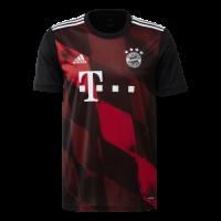 20/21 Bayern Munich Third Away Black&Red Jerseys Shirt