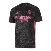 20/21 Real Madrid Third Away Black Soccer Jerseys Shirt