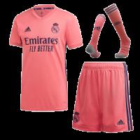 20/21 Real Madrid Away Pink Soccer Whole Kit(Shirt+Short+Socks)