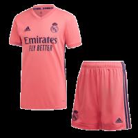 20/21 Real Madrid Away Pink Soccer Jerseys Kit(Shirt+Short)