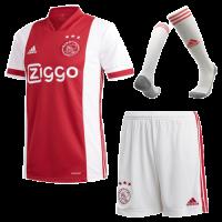 20/21 Ajax Home Red&White Soccer Jerseys Whole Kit(Shirt+Short+Socks)