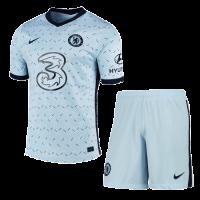 20/21 Chelsea Away Light Blue Soccer Jerseys Kit(Shirt+Short)