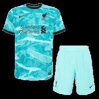 20/21 Liverpool Away Green Soccer Jerseys Kit(Shirt+Short)