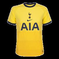 20/21 Tottenham Hotspur Third Away Yellow Soccer Jerseys Shirt(Player Version)