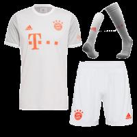 20/21 Bayern Munich Away Gray Jerseys Whole Kit(Shirt+Short+Socks)