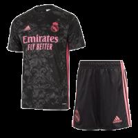 20/21 Real Madrid Third Away Black Soccer Jerseys Kit(Shirt+Short)