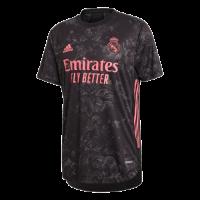 20/21 Real Madrid Third Away Black Soccer Jerseys Shirt(Player Version)