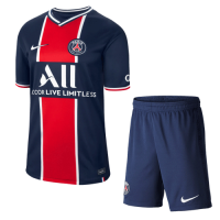 20/21 PSG Home Navy&Red Soccer Jerseys Kit(Shirt+Short)