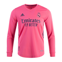 20/21 Real Madrid Away Pink Long Sleeve Jerseys Shirt