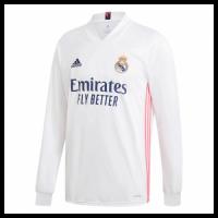 20/21 Real Madrid Home White Long Sleeve Jerseys Shirt