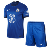20/21 Chelsea Home Blue Soccer Jerseys Kit(Shirt+Short)