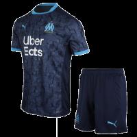 20/21 Marseille Away Navy Jerseys Kit(Shirt+Short)