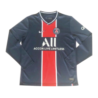 20/21 PSG Home Navy Long Sleeve Soccer Jerseys Shirt
