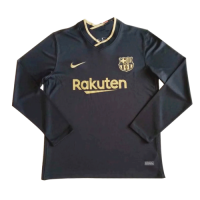 20/21 Barcelona Away Black Long Sleeve Jerseys Shirt