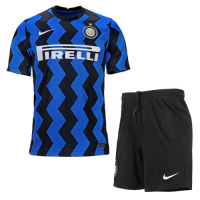 20/21 Inter Milan Home Navy&Black Soccer Jerseys Kit(Shirt+Short)