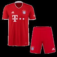20/21 Bayern Munich Home Red Jerseys Kit(Shirt+Short)